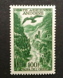 EARLY AVIATION 100FR VF MNH FRANCE ANDORRA ANDORRE B101.35 START $0.99