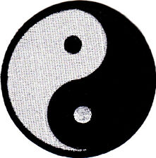 """Yin Yang (2 3/4"""") Symbol Martial Arts Karate Iron On Embroidered Patch"""