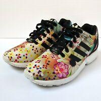 Adidas ZX FLUX Floral Running Women Size 8.5 Torsion Shoes S78976 EUC