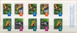 FAUNA_A1_291 2003 Australia rainforest butterflies birds animals BOOKLET MNH