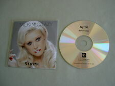 SYRON Talkin' Crazy (Remixes) promo CD single