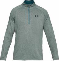 NWT Men's UA Under Armour Tech 1/2 Zip Warm Up Sweater 2XL XXL Green Long Sleeve