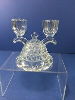 """Vintage, Imperial """"KATY"""" Laced Edge Double Candlestick Holder"""