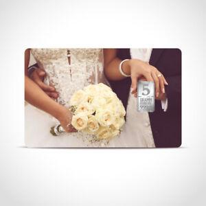 Silber Geschenkkarte Geschenkidee 5 g Barren Glückwunsch Hochzeit inkl. Etui