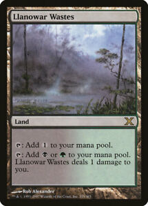 Landes de Llanowar - Llanowar Wastes - Black Borders - Bords Noirs - Mtg