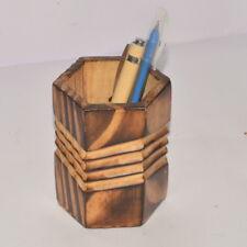 Wooden Pen Holder Handicraft Decorative Table Top Office Desktop Gift Item