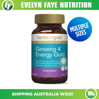 HERBS OF GOLD Ginseng 4 Energy Gold - 30 / 60 Tablets | Energy Support