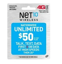 Net10 $50/Month Refill for SmartPhone -- Unlimited Talk/Text/Data,8GB at 4G LTE