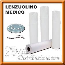 6 Rotoli Carta Lettino 60cmx80mt Roial Lenzuolino Medico 2 Veli Estetista Cera
