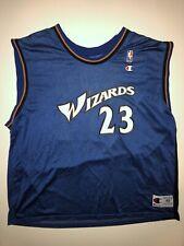 Champion Michael Jordan Wizards Jersey Mens XL 48 Blue NBA Basketball Washington