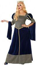 Déguisement DAME Médiévale Bleu Femme XXL Princesse Moyen Age NEUF
