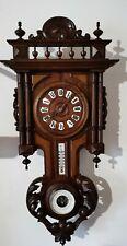 Antico Orologio A Pendolo In Legno Di Fine 800