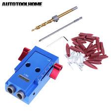 Pocket Hole Jig Kit Aluminum Drill Guide Sleeve For Kreg Manual Wood Joiner
