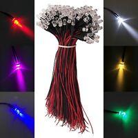 5mm Color LED Light Bulb Lamp Pre-Wired 12V DC For DIY Car 12V DC LOT