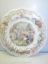 "BRAMBLY HEDGE THE BIRTHDAY 8"" WALL PLATE ROYAL DOULTON 1ST QTY OCCASIONS SERIES"