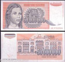 YUGOSLAVIA 50000000 DINARA RARE ITEM  # 683