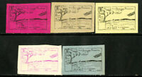 France Stamps Essay Lot of 5X La Baule Air Meet Trial Colors