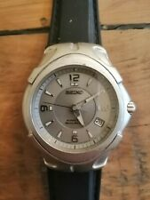 Seiko kinetic auto relay mens gents mans watch 5J22 0A20 rare not working