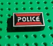 Lego Vintage Black Police 2x3x2 Space Brick Spaceships x 1 piece