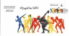 GUERNSEY 2004 OLYMPIC GAMES MINI SHEET FIRST DAY COVER