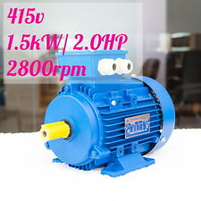 1.5kw 2HP 2800rpm shaft 24mm Electrical motor Three phase 415v IE3 compressor