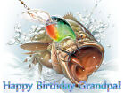 BASS Fishing Edible Photo CAKE Topper Decoration ICING Image Party Supply