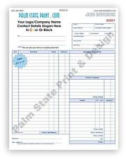 250 Custom Sam 2 Part Contractors Invoice Receipt Work Order Forms Book Sets