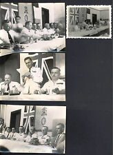 7 Photos coloniale Françaises. Indochine. Banquet Franco-Britannique. Vers 1948