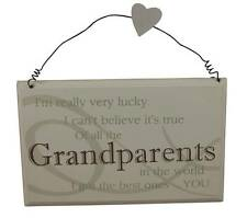 Best Grandparents in the world plaque - Super gift idea Christmas / Anniversary