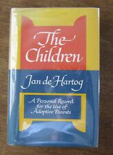 Signed - The Children by Jan de Hartog - 1969 1st/1st Hcdj - child adoption Nf