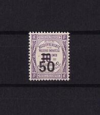 timbre France TAXE    50c sur 10c   violet      num: 51   oblitéré