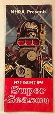 VINTAGE 1970 DRAG RACING'S SUPER SEASON PAMPHLET