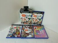PLAYSTATION 2 (PS2) EYE TOY BUNDLE X 4 GAMES & OFFICIAL  EYE TOY BOXED CAMERA