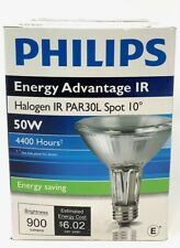 Philips Energy Advantage IR 50W Halogen PAR30L Spot 10° 2750K Light Bulb 2750K