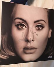 ADELE ADKINS SIGNED 25 VINYL LP! HELLO RECORD ALBUM! AUTOGRAPH GRAMMY! PSA DNA!
