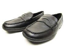 Kenneth Cole Reaction Driving Dime Big Kids Black Leather Loafer Shoe Size US 5