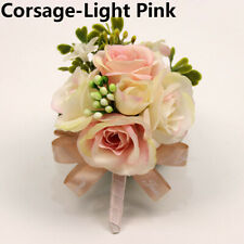 Wedding Corsages and Boutonnieres Brooch Lace Leaves Wrist Corsages Flowers New