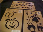 Halloween 3 Stencils Cat Witch Pumpkin Ghost by Plaid Simply Stencils NEW