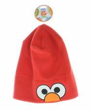 NEW Sesame Street Elmo Winter Hat Coppertone UPF 50+ UV Fleece Headwear One Size