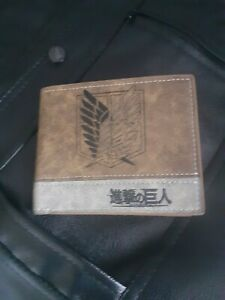 Attack On Titan PU Leather Bi-fold Wallet New And Sealed