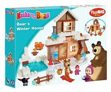MASHA and & THE BEAR - BEAR'S WINTER HOUSE -132 pcs. BLOCKS BRICKS PlayBIG Bloxx