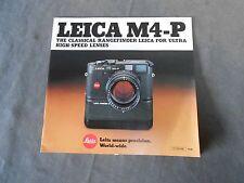 Vintage Leitz Leica M4-P Rangefinder Advertising Sales Brochure Booklet
