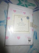 Pottery Barn Kids Organic Heart Toddler Pillowcase-Pink Hearts-NEW