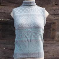 Vintage Womens Sweater Vest Shirt 1980s 1990s E.V. LTD Size Medium