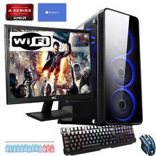 AMD QUADCORE Desktop Gaming PC Computer Bundle 3.6GHz 16GB 2TB Windows 10 np1