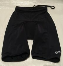 Performance  Women's Padded Compression Cycling Shorts Black Size Medium