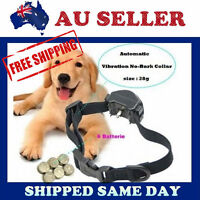 New VIBRATION Automatic Dog Collar Anti Bark Stop Barking Safe Training