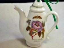PORTMEIRION BOTANIC PORCELIAN  CHINA MINIATURE HINGED TEAPOT COFFEE POT PEONY