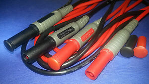 Shrouded Test Leads With  4mm Plugs CAT III 1000V, CAT IV 600V  10 Amps