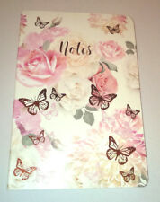 A5 NOTEBOOK Floral ROSE GOLD Butterflies PAPERBACK With Love Gift NOTES JOURNAL